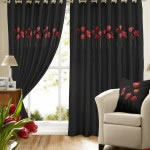 Poppies  Black Curtains (1)