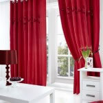 Poppy Curtains Red