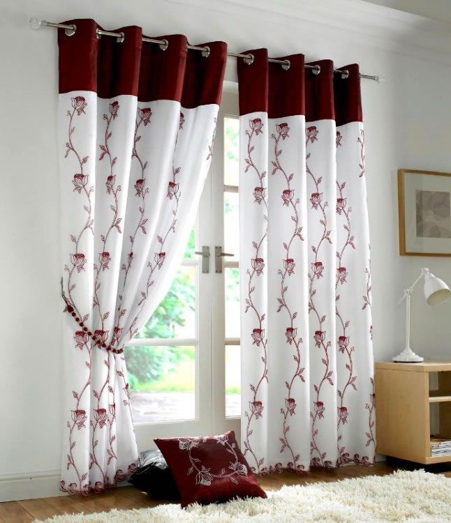 with add gold decorate beautify concrete floor modern how beauty curtains ideas white combined inside and can the red to motifs wall that nice design color brown be decor cream house