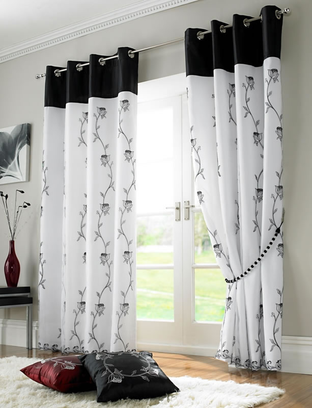 curtains black white ready made curtains ready made voile panels