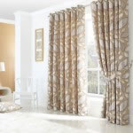 london leaf curtains cream