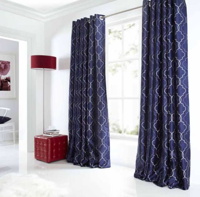 Navy Blue Curtain Panels Myideasbedroomcom
