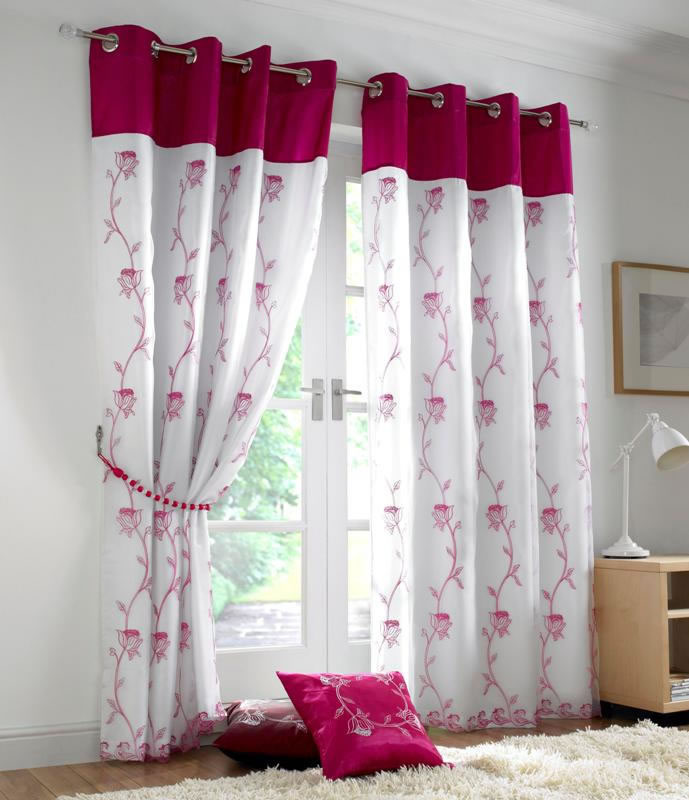 cerise pink curtains | www.redglobalmx.org